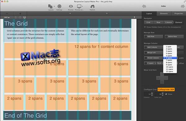 [Mac]响应式网页设计软件 : CoffeeCup Responsive Layout Maker Pro