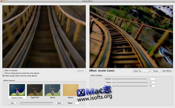 [Mac]视频特效工具 : Video Effects 1-5