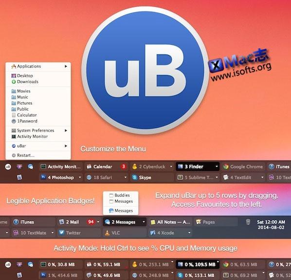 [Mac]windows风格任务窗口切换工具 : uBar