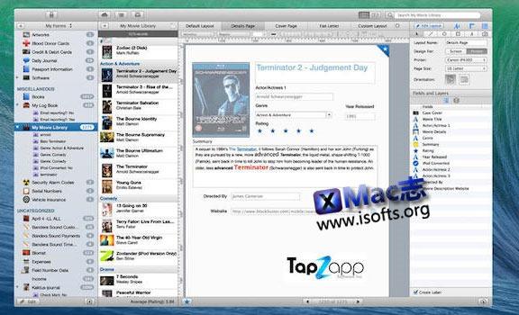 [Mac]数据库管理工具 : Tap Forms