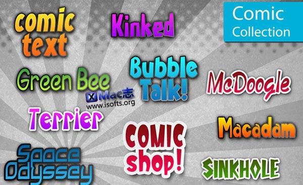 [Mac]动漫字体合集 : MacFonts-Comic Fonts