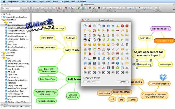 [Mac]思维导图工具 : SimpleMind