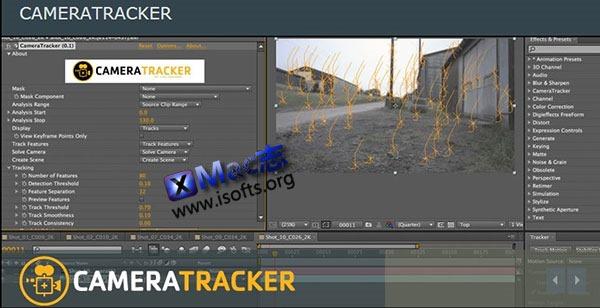[Mac]AE三维摄像机跟踪解算插件 : The Foundry CameraTracker