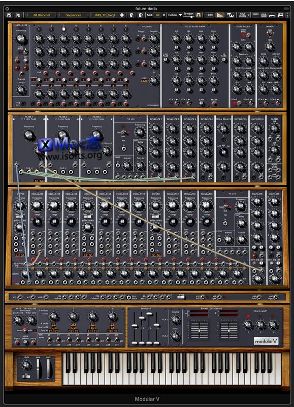 [Mac]模块化模拟合成器 : Arturia Modular V