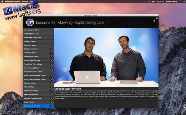 [Mac]iMovie学习教程 : Lessons for iMovie