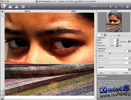 [Mac]图像无损放大缩小工具 : AKVIS Magnifier