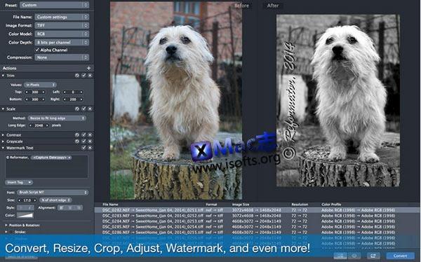 [Mac]批量处理图片工具 : Reformator