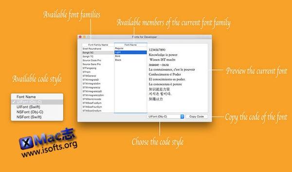 [Mac]字体管理开发工具 : Fonts for Developer