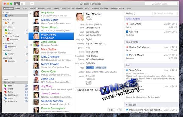 [Mac]通讯录管理工具 : BusyContacts
