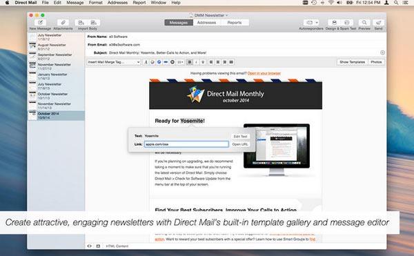 [Mac]电子邮件营销工具 : Direct Mail