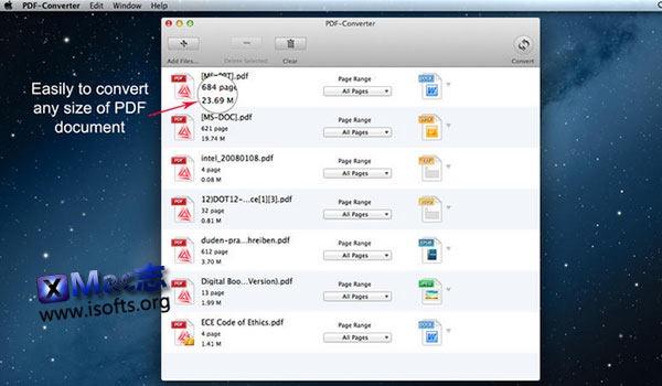 [Mac]PDF文件格式转换器 : PDF-Converter