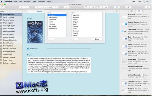 [Mac]个人数据管理工具 : Records