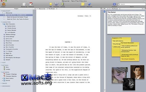 [Mac]小说故事写作工具 : Storyist