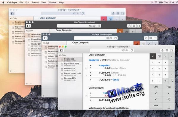 [Mac]强大的计算器工具 :CalcTape