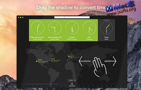 [Mac]简单实用的世界时钟软件 : World Clock
