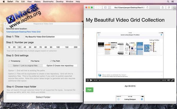 [Mac] 视频管理工具 :Responsive Video Grid