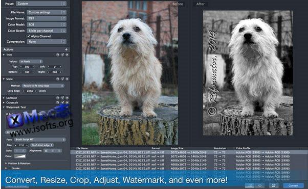 [Mac] 图像批量转换及编辑处理工具 : PhotoMill