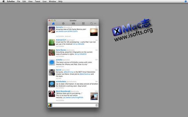[Mac] 简洁的Twitter客户端 : Echofon