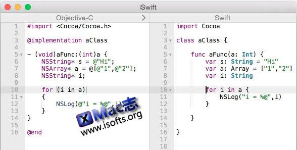 [Mac] Objective-C代码转换成Swift代码 : iSwift