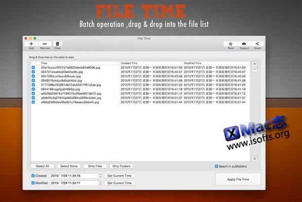 [Mac] 批量文件文件夹创建时间修改工具: File Time
