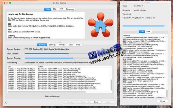 [Mac] 网站数据快速备份工具 : On Site Backup