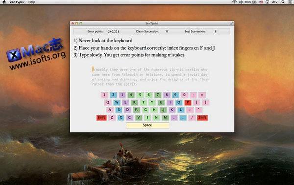 [Mac] 打字练习软件 : ZenTypist