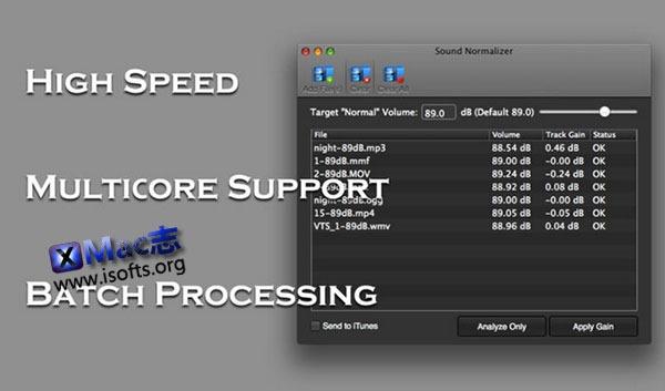 [Mac] 视频及音频的音量调节工具 : Sound Normalizer