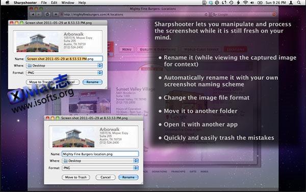 [Mac] 支持快速重命名文件的截图软件 : Sharpshooter