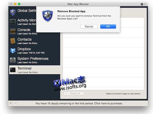 [Mac] 给应用程序加密上锁 : Mac App Blocker