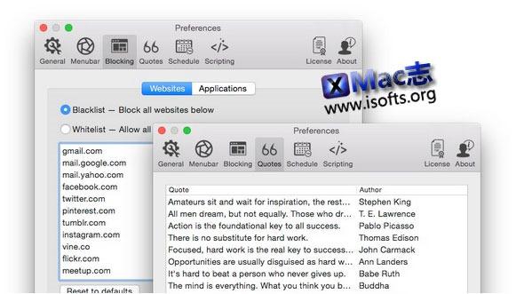 [Mac] 保证个人专注力工具 : Focus