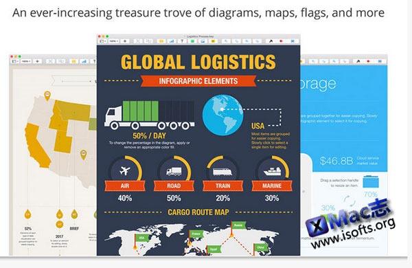 [Mac] 高质量的Keynote演示模板套装 : Infographics