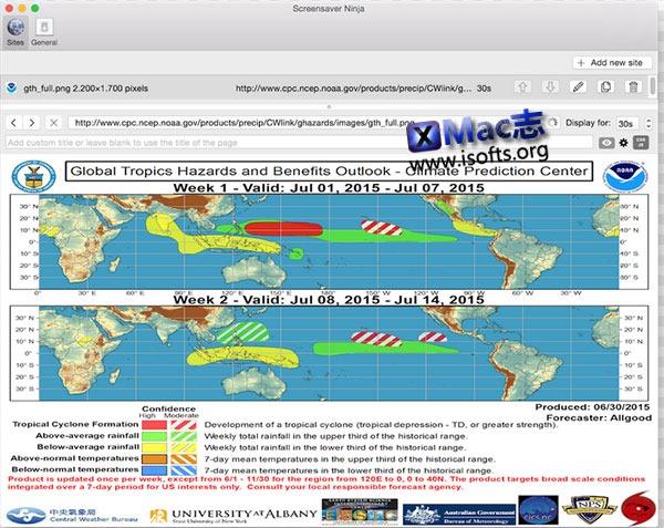 [Mac] 将关注的网站设置为桌面实时关注 : Screensaver Ninja