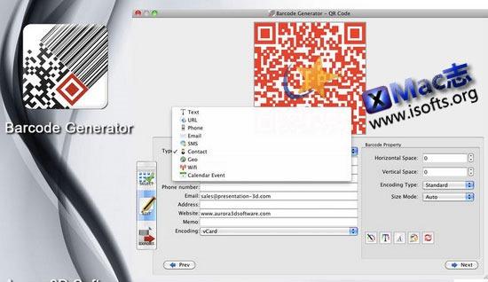 [Mac] 二维码条形码生成工具 : Barcode Generator(iBarcodeGenerator)