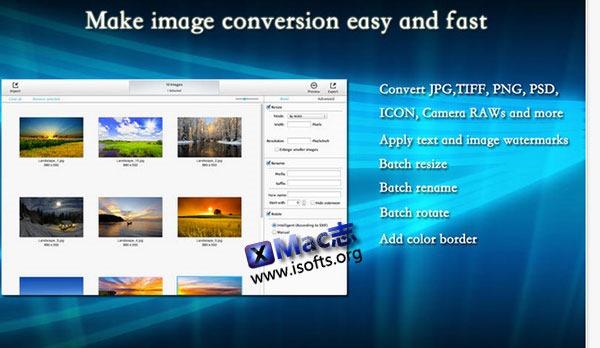 [Mac] 图像水印及转换工具 : BatchProcessing