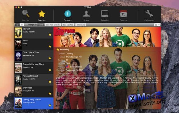 [Mac] 电视节目搜索和追剧工具: TV Pilot