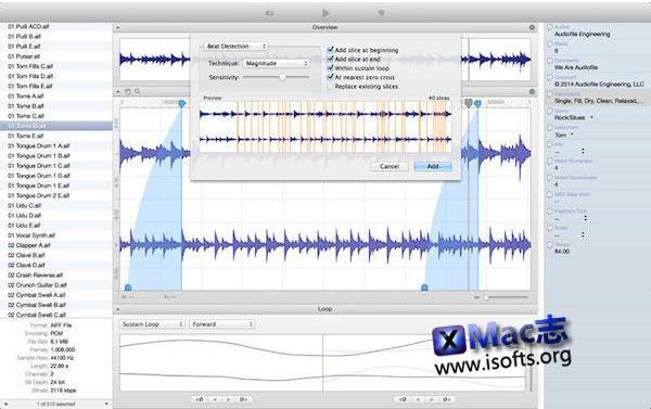 [Mac] 音频循环编辑软件 : Loop Editor