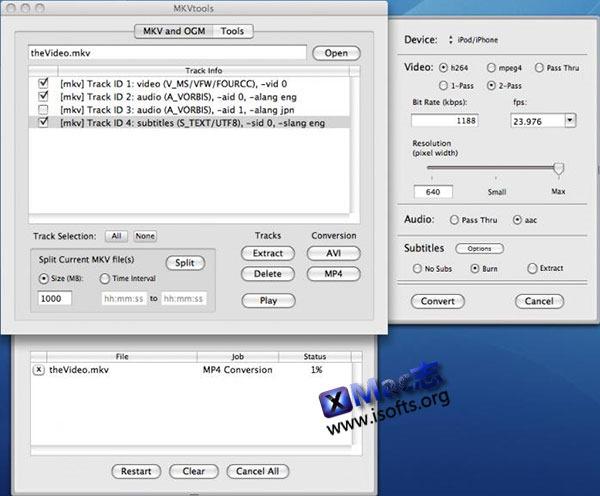 [Mac]  MKV格式转换工具 : MKVtools