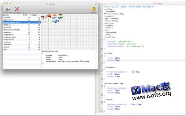 [Mac] CSS图像拼合工具 : Quick Sprites