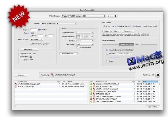 [Mac] PDF 文档自动批量打印的工具 : BatchOutput PDF