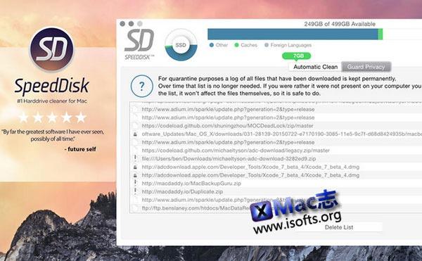 [Mac] 隐私缓存信息清除工具 : Speed Disk