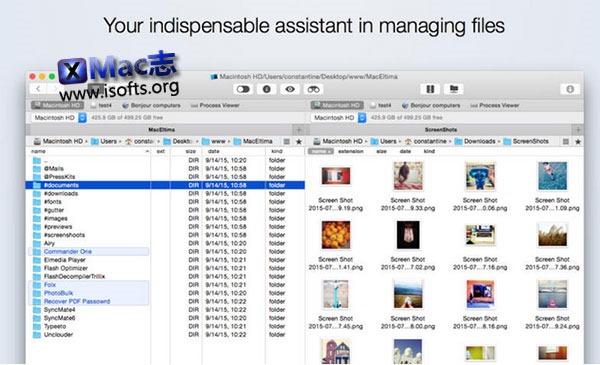 [Mac] 增强型文件资源管理器 :  Commander One