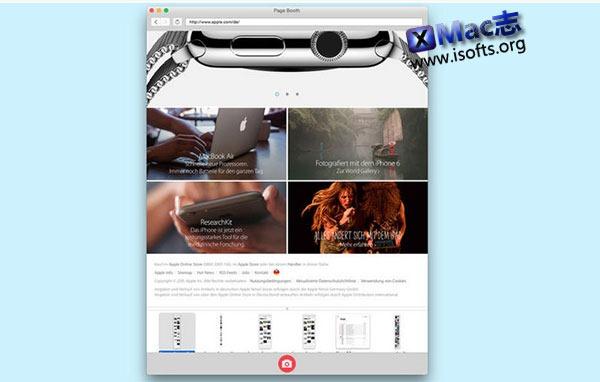 [Mac] 网页全屏截图工具 : Page Booth