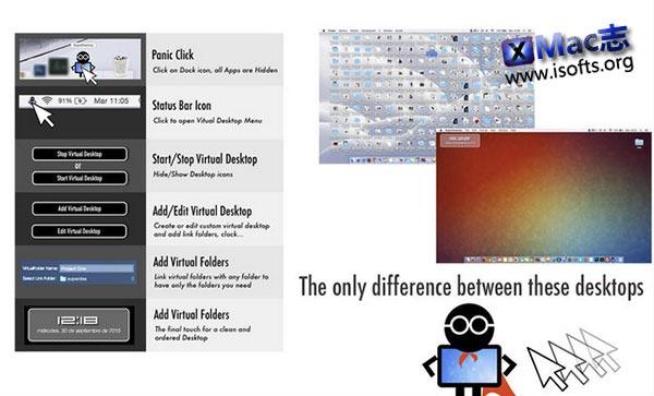 [Mac] 桌面图标整理及一键隐藏工具 : SuperDesktop