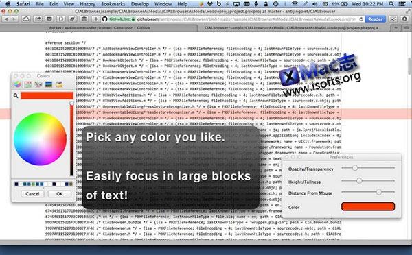 [Mac] 彩色阅读标记工具 : Overlays!