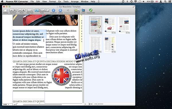 [Mac] 专业的pdf格式转换器 : Nuance PDF Converter