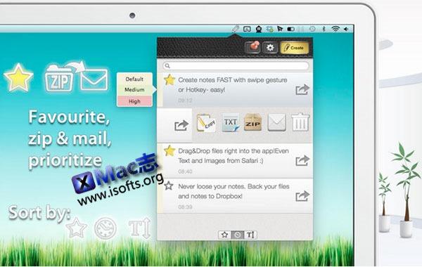 [Mac]快速记录/文件上传存储工具 : Ideally