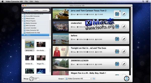 [Mac] 高清视频格式转换工具 : Video Converter HD