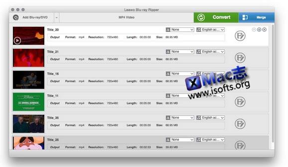 [Mac] DVD 转换软件 : Leawo DVD Ripper for Mac