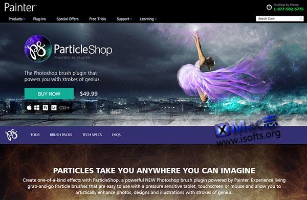 [Mac] PhotoShop粒子笔刷工具 : Corel ParticleShop
