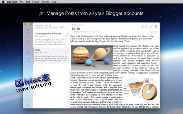 [Mac] 离线博客文章发布工具 : BlogTouch